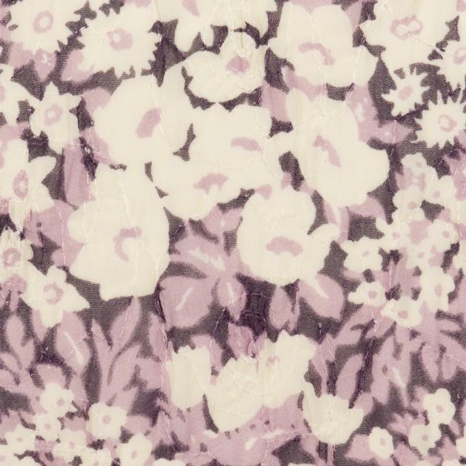 ポリエステル×フラワー(モーブ)×ジョーゼット刺繍_全3色 イメージ1