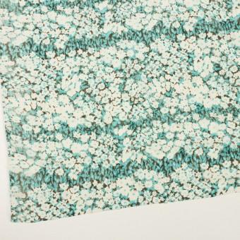 ポリエステル×フラワー(ターコイズ)×ジョーゼット刺繍_全3色 サムネイル2
