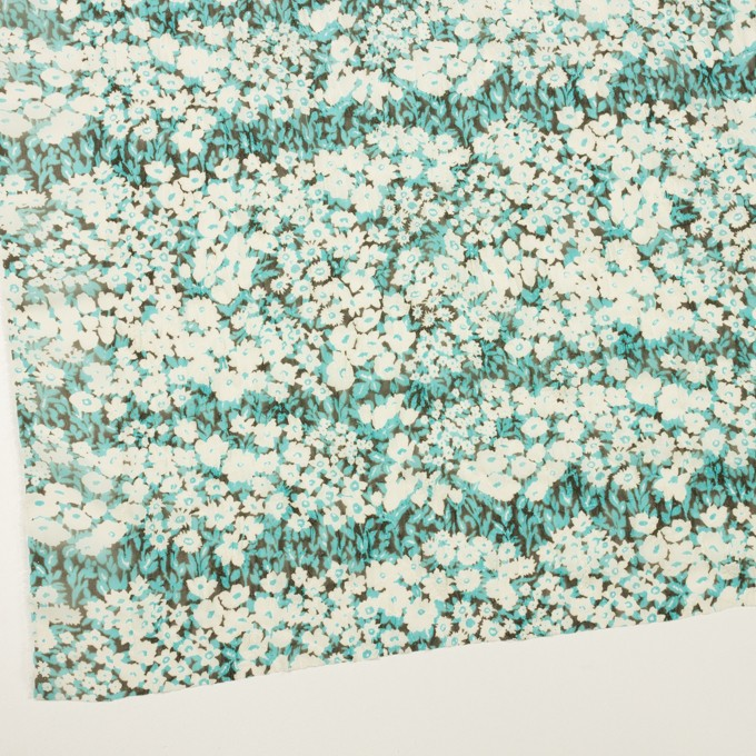 ポリエステル×フラワー(ターコイズ)×ジョーゼット刺繍_全3色 イメージ2