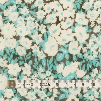 ポリエステル×フラワー(ターコイズ)×ジョーゼット刺繍_全3色 サムネイル4