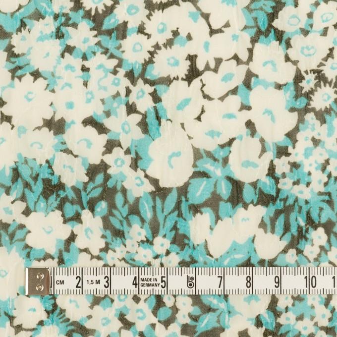 ポリエステル×フラワー(ターコイズ)×ジョーゼット刺繍_全3色 イメージ4