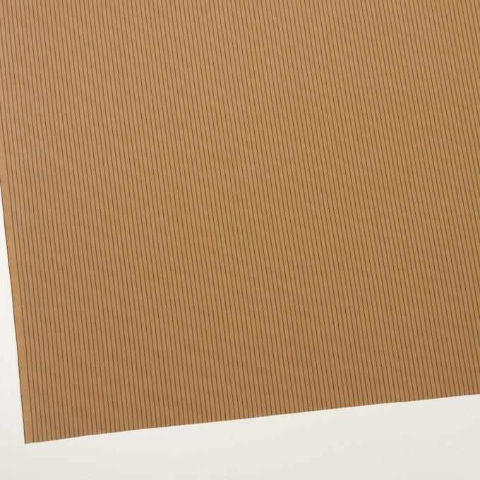 コットン&シルク混×ストライプ(オークル)×ローン_全3色 イメージ2
