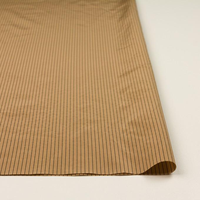 コットン&シルク混×ストライプ(オークル)×ローン_全3色 イメージ3