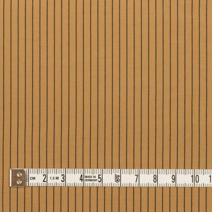コットン&シルク混×ストライプ(オークル)×ローン_全3色 イメージ4