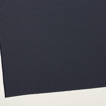 コットン&シルク混×ストライプ(ネイビー)×ローン_全3色 サムネイル2
