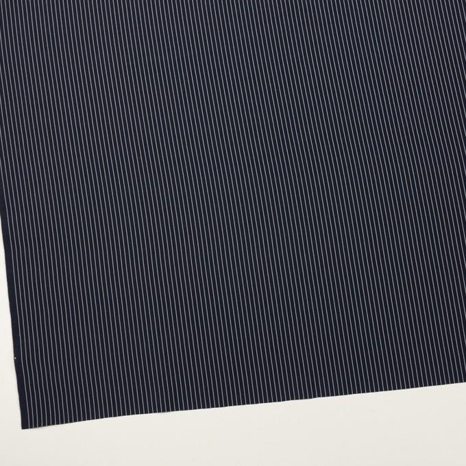 コットン&シルク混×ストライプ(ネイビー)×ローン_全3色 イメージ2