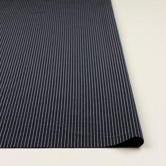 コットン&シルク混×ストライプ(ネイビー)×ローン_全3色 サムネイル3