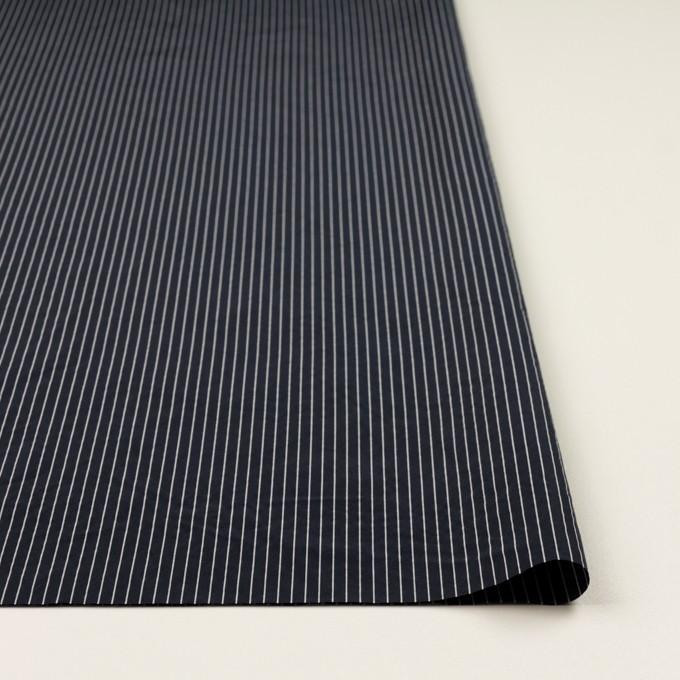コットン&シルク混×ストライプ(ネイビー)×ローン_全3色 イメージ3