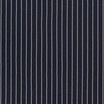 コットン&シルク混×ストライプ(ネイビー)×ローン_全3色 サムネイル1