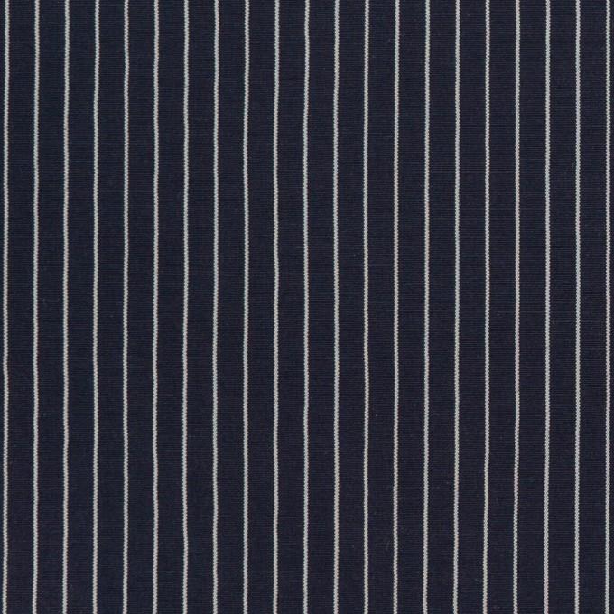 コットン&シルク混×ストライプ(ネイビー)×ローン_全3色 イメージ1