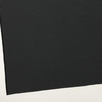 コットン&シルク混×ストライプ(ブラック)×ローン_全3色 サムネイル2