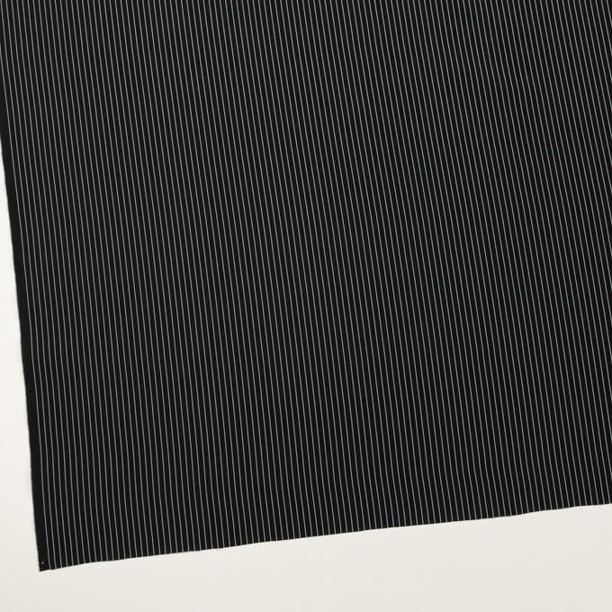 コットン&シルク混×ストライプ(ブラック)×ローン_全3色 イメージ2