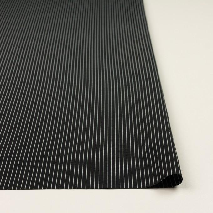 コットン&シルク混×ストライプ(ブラック)×ローン_全3色 イメージ3