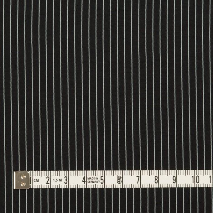 コットン&シルク混×ストライプ(ブラック)×ローン_全3色 イメージ4