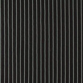 コットン&シルク混×ストライプ(ブラック)×ローン_全3色
