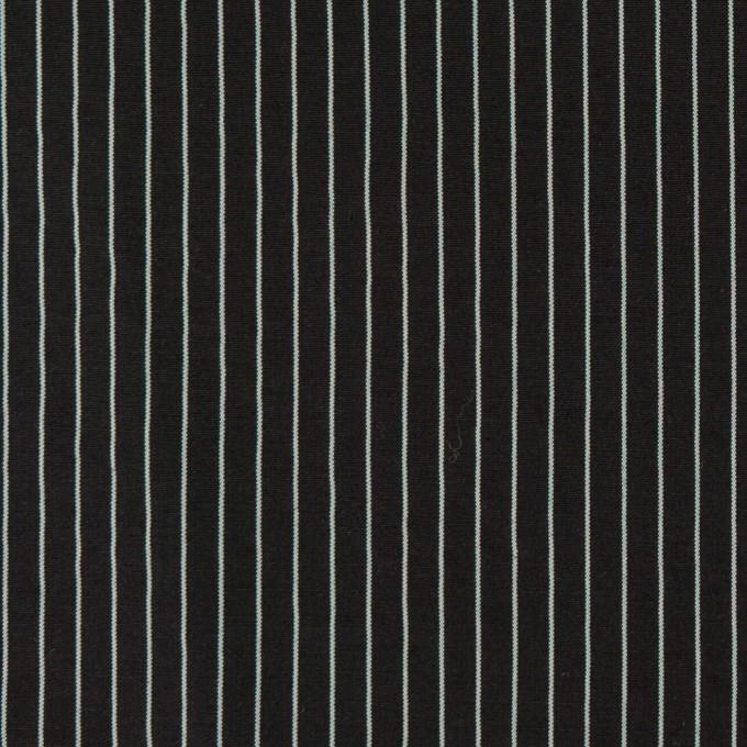 コットン&シルク混×ストライプ(ブラック)×ローン_全3色 イメージ1