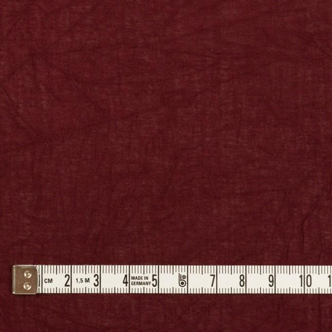 コットン×無地(バーガンディー)×ボイルワッシャー_全3色 イメージ4