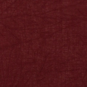 コットン×無地(バーガンディー)×ボイルワッシャー_全3色