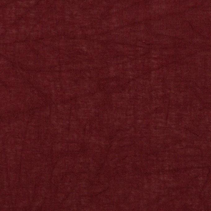 コットン×無地(バーガンディー)×ボイルワッシャー_全3色 イメージ1