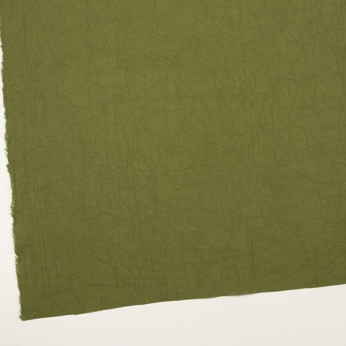 コットン×無地(カーキグリーン)×ボイルワッシャー_全3色 イメージ2