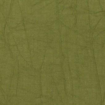 コットン×無地(カーキグリーン)×ボイルワッシャー_全3色