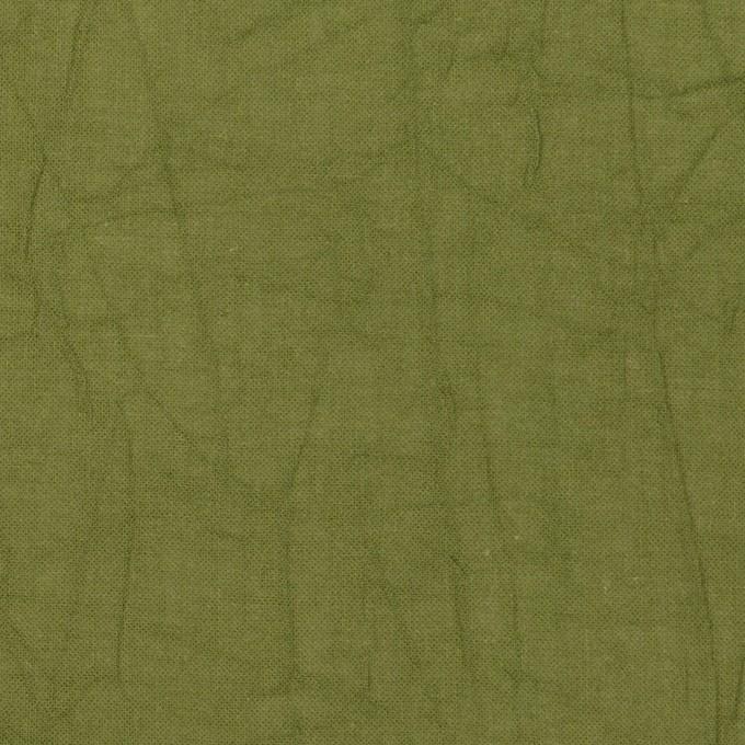 コットン×無地(カーキグリーン)×ボイルワッシャー_全3色 イメージ1