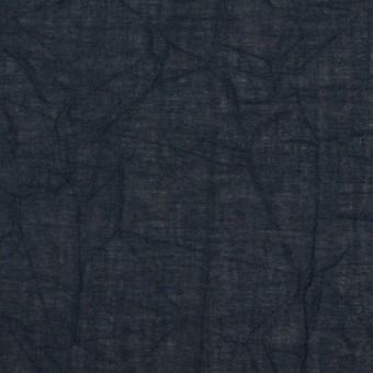 コットン×無地(ネイビー)×ボイルワッシャー_全3色 サムネイル1
