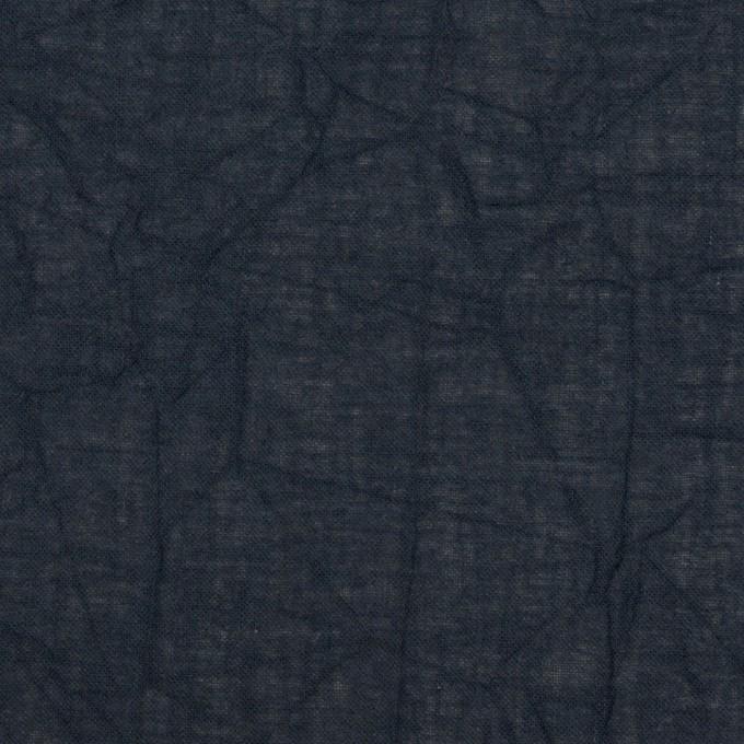 コットン×無地(ネイビー)×ボイルワッシャー_全3色 イメージ1