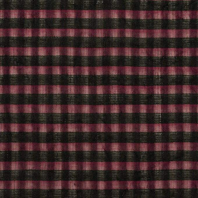 コットン×チェック(ガーネット)×ボイルワッシャー_全4色 イメージ1