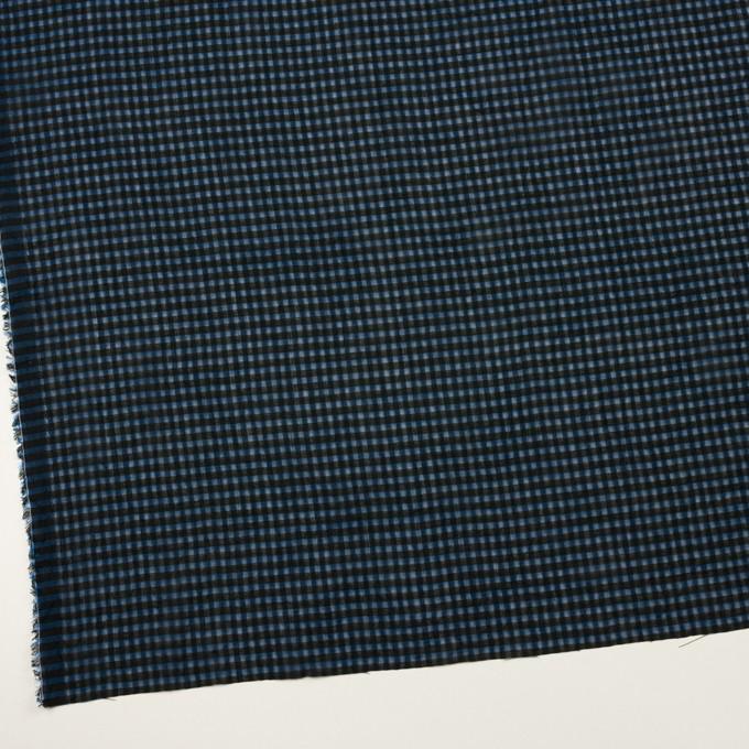 コットン×チェック(ブルー)×ボイルワッシャー_全4色 イメージ2