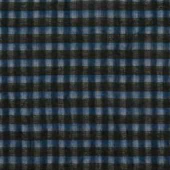 コットン×チェック(ブルー)×ボイルワッシャー_全4色 サムネイル1