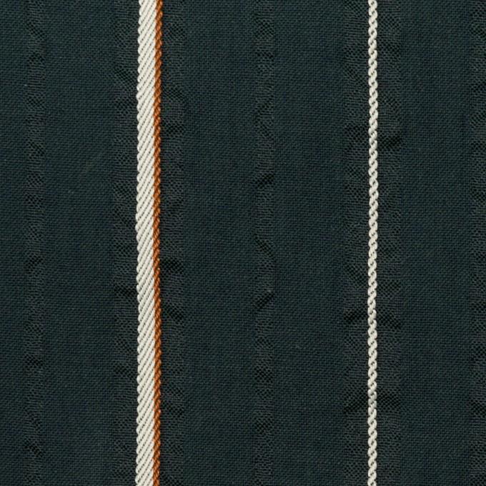 コットン&ポリエステル混×ストライプ(ダークバルビゾン)×サッカージャガード_全2色 イメージ1