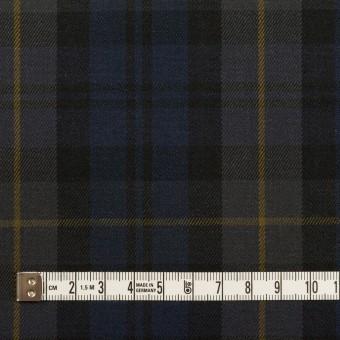 コットン&ポリウレタン×チェック(ネイビー&チャコールグレー)×チノクロス・ストレッチ サムネイル4