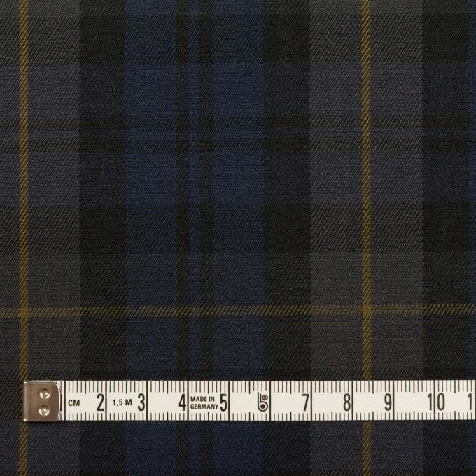 コットン&ポリウレタン×チェック(ネイビー&チャコールグレー)×チノクロス・ストレッチ イメージ4