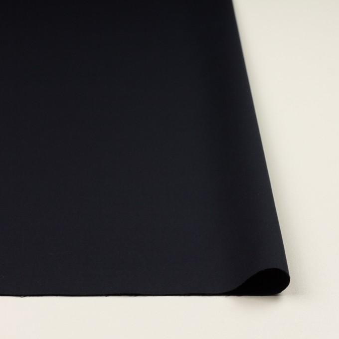 コットン&ポリウレタン×無地(ダークネイビー)×サテンストレッチ_全2色 イメージ3