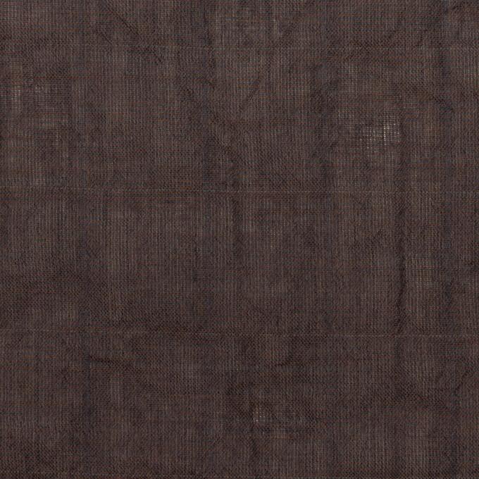 コットン&テンセル混×無地(レーズン)×シャンブレーボイル・シャーリング イメージ1