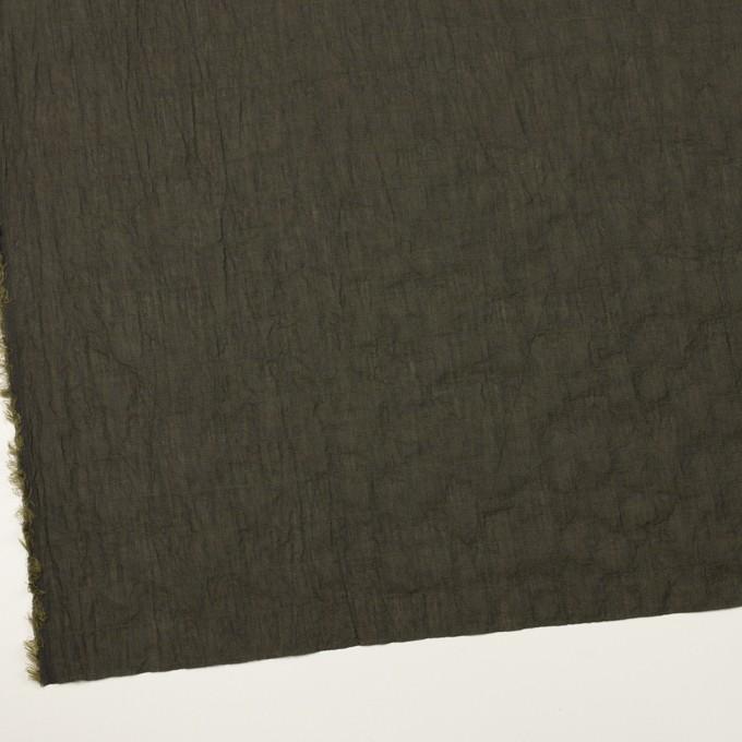 コットン&テンセル混×無地(オリーブグリーン)×シャンブレーボイル・シャーリング イメージ2