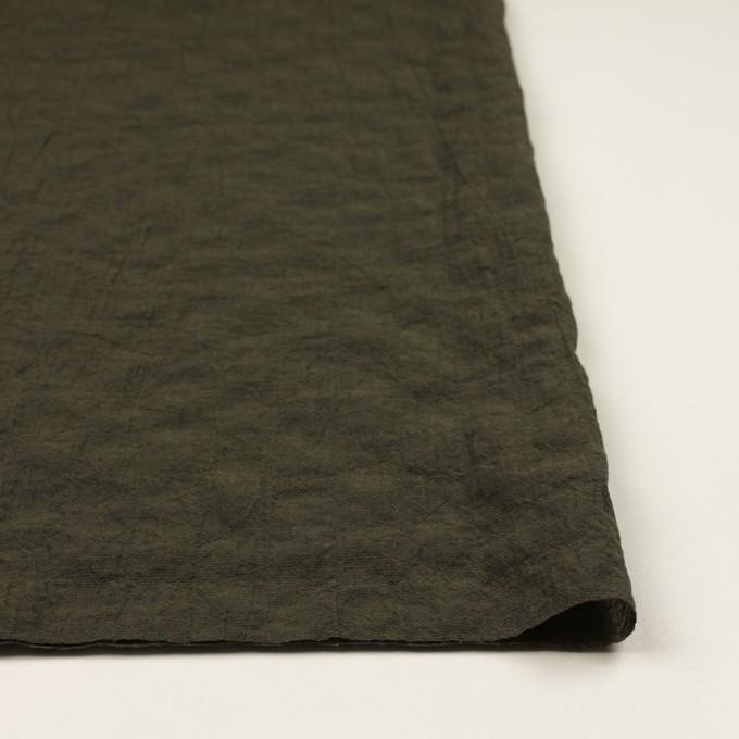 コットン&テンセル混×無地(オリーブグリーン)×シャンブレーボイル・シャーリング イメージ3