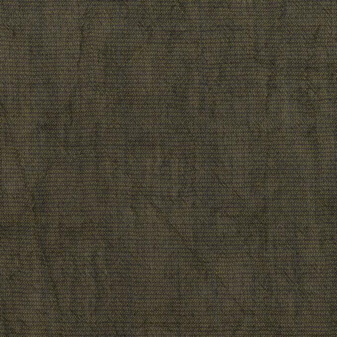 コットン&テンセル混×無地(オリーブグリーン)×シャンブレーボイル・シャーリング イメージ1