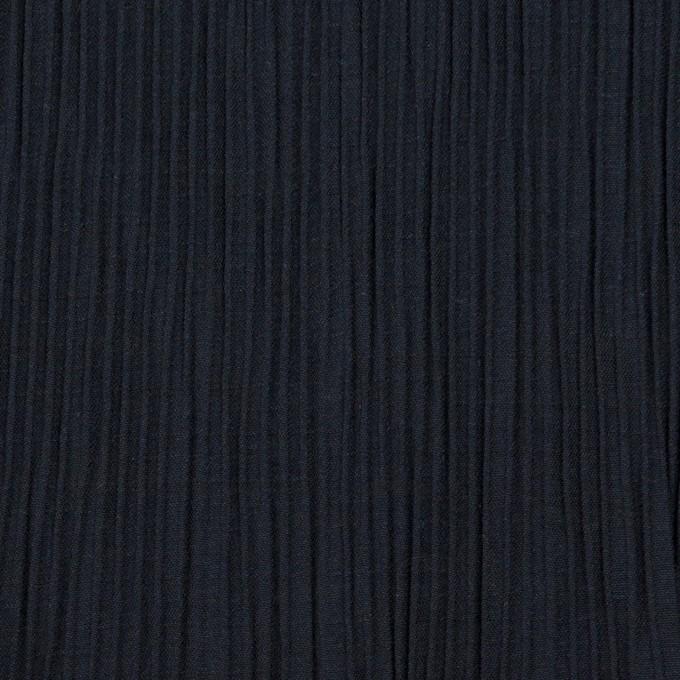 コットン&ポリエステル混×無地(ネイビー)×シャンブレーローン・シャーリング_パネル イメージ1