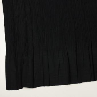 コットン&ポリエステル混×無地(ブラック)×シャンブレーローン・シャーリング_パネル サムネイル2