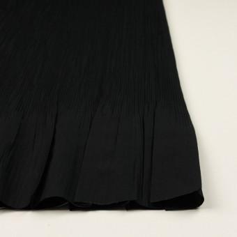 コットン&ポリエステル混×無地(ブラック)×シャンブレーローン・シャーリング_パネル サムネイル3