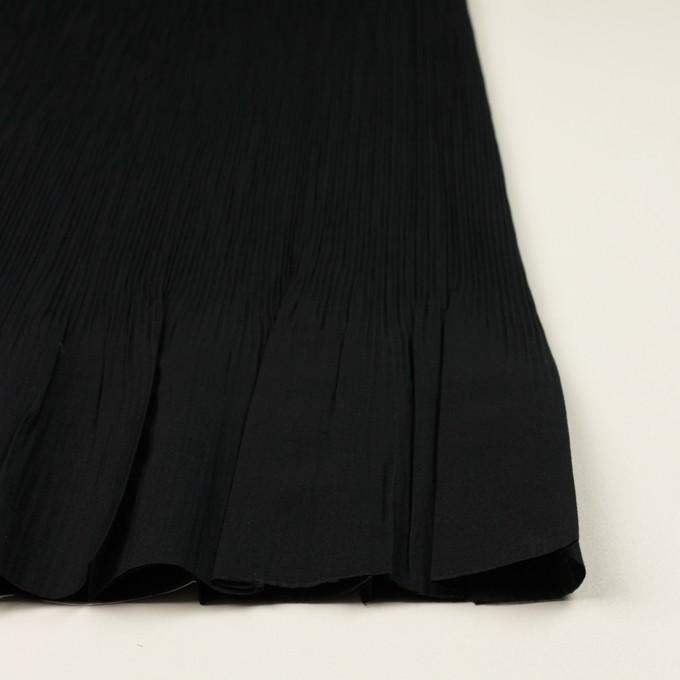 コットン&ポリエステル混×無地(ブラック)×シャンブレーローン・シャーリング_パネル イメージ3