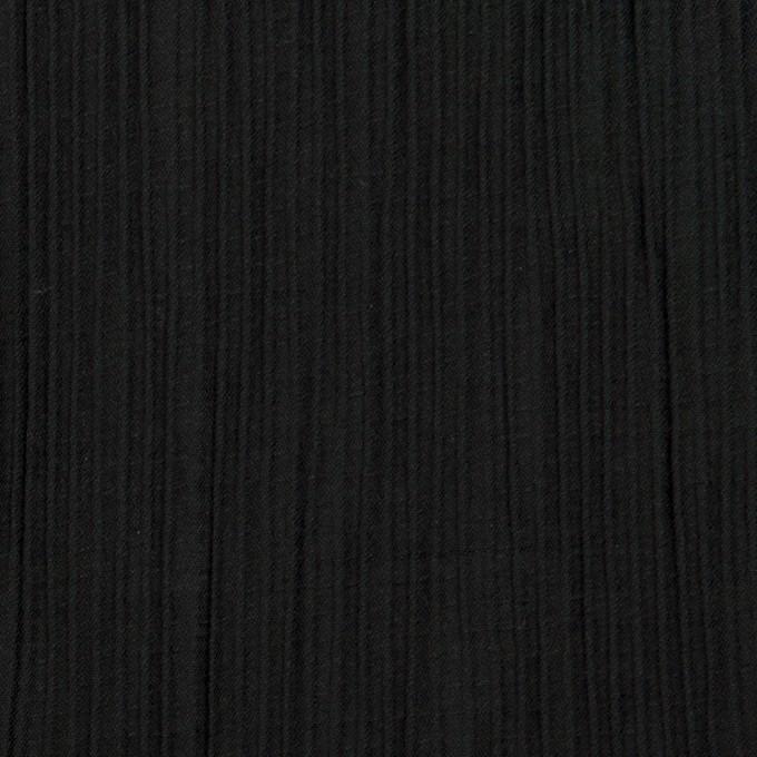 コットン&ポリエステル混×無地(ブラック)×シャンブレーローン・シャーリング_パネル イメージ1