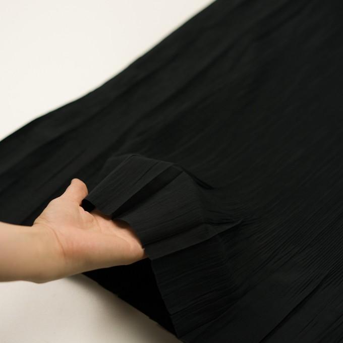 コットン&ポリエステル混×無地(ブラック)×シャンブレーローン・シャーリング_パネル イメージ5