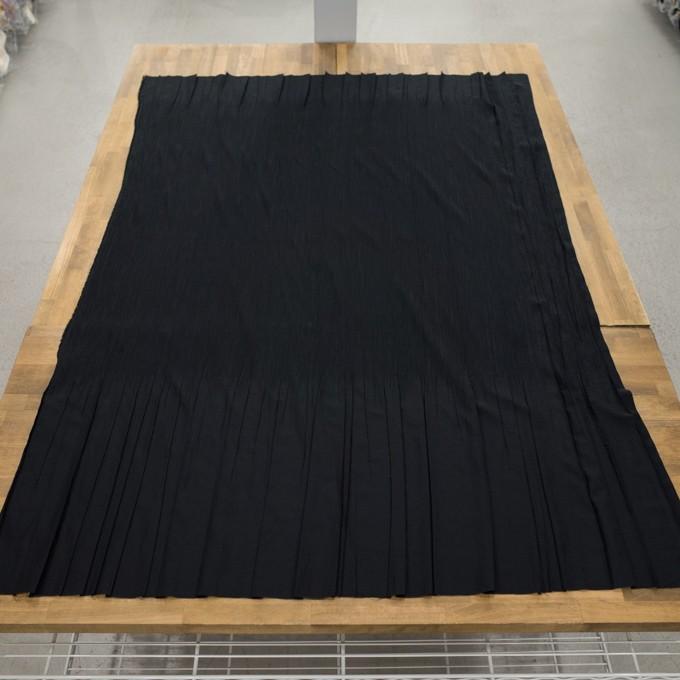 コットン&ポリエステル混×無地(ブラック)×シャンブレーローン・シャーリング_パネル イメージ6