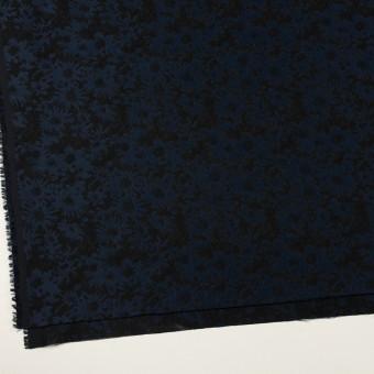 ポリエステル&アクリル混×フラワー(プルシアンブルー&ブラック)×ジャガード_全2色 サムネイル2