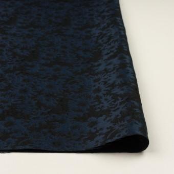 ポリエステル&アクリル混×フラワー(プルシアンブルー&ブラック)×ジャガード_全2色 サムネイル3