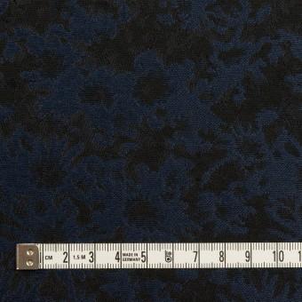 ポリエステル&アクリル混×フラワー(プルシアンブルー&ブラック)×ジャガード_全2色 サムネイル4