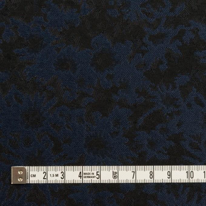 ポリエステル&アクリル混×フラワー(プルシアンブルー&ブラック)×ジャガード_全2色 イメージ4